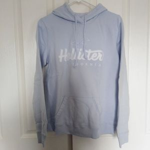 Hollister Logo Pullover Hoodie Sweatshirt Large